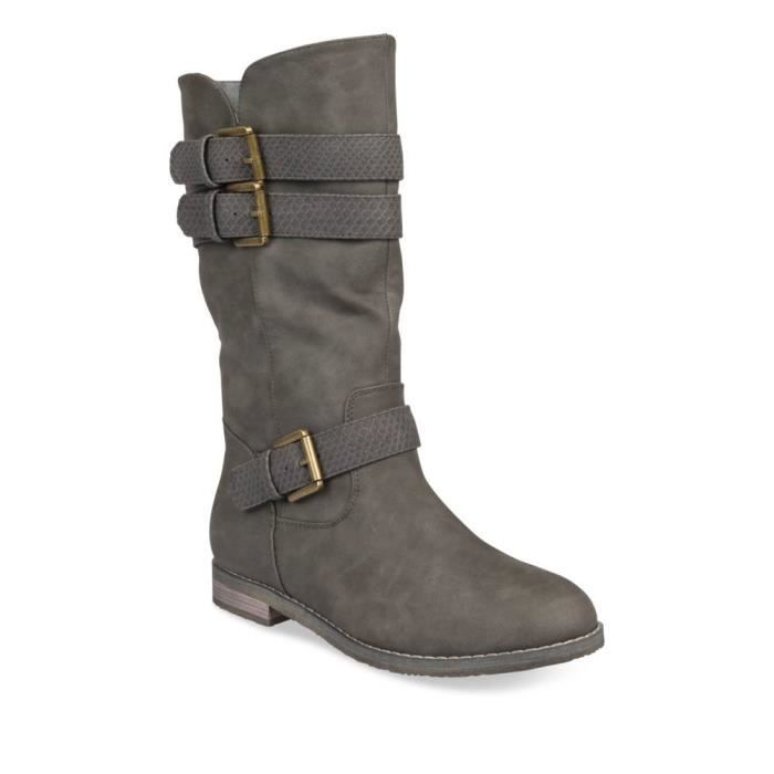 plus de photos aaed4 9b7ae Bottines GRIS MERRY SCOTT Femme Chaussea Gris - Achat ...
