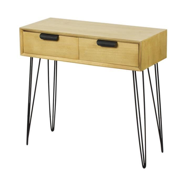 console industrielle metal et bois achat vente console. Black Bedroom Furniture Sets. Home Design Ideas