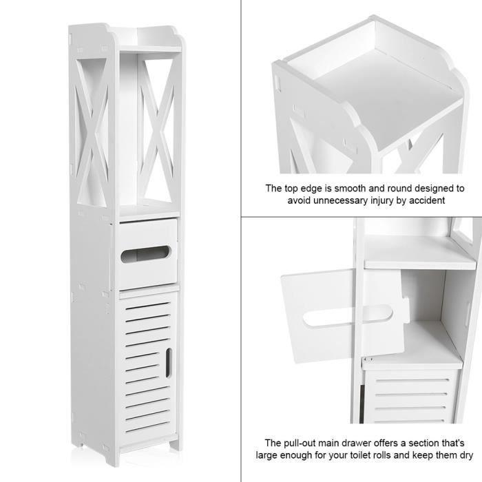 ARMOIRE DE TOILETTE 80*15.5*15.5CM Armoire de Toilette Cabinet de Rang