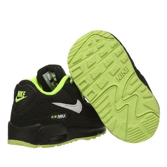 air max bebe noir et vert fluo