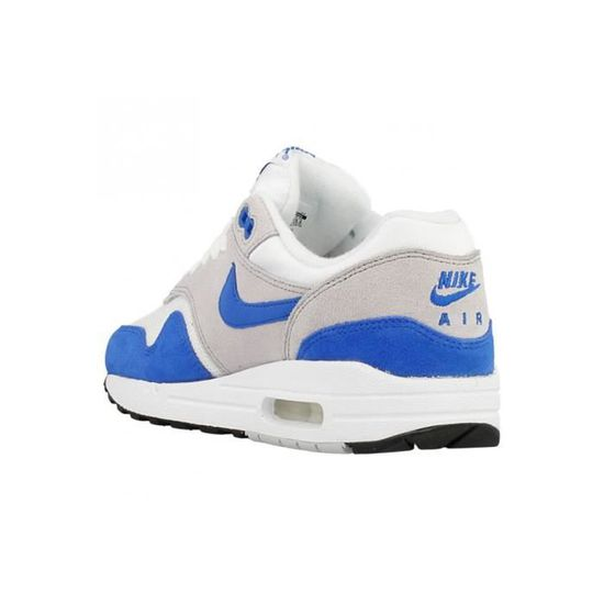 order on feet shots of get new Baskets Nike Air Max 1 GS. 555766-147. Gris - Achat / Vente basket ...