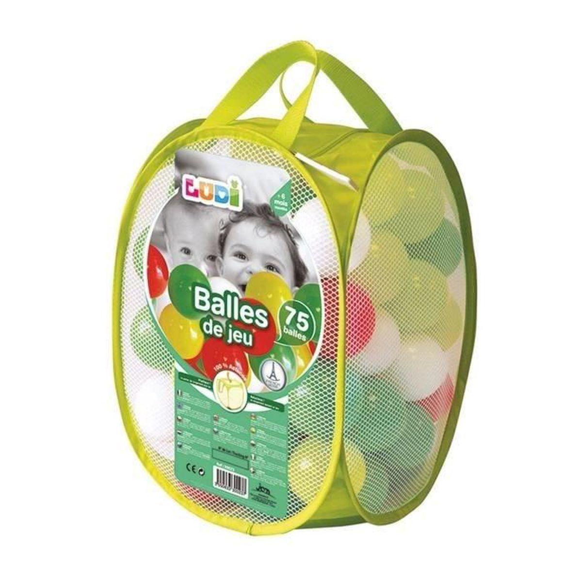 BALLES PISCINE À BALLES LUDI - Sac de 75 balles multicolores souples en pl