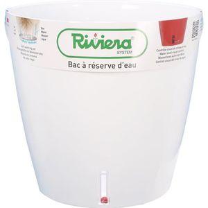 JARDINIÈRE - BAC A FLEUR RIVIERA Pot rond Eva New en plastique - Ø 31 cm -