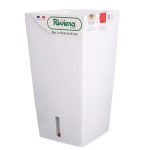 JARDINIÈRE - BAC A FLEUR RIVIERA Pot carré Eva New en plastique H69cm - 69l