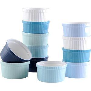RAMEQUIN - RAVIER LOVECASA, 12 Pièces Ramequin Dish en Porcelaine, R