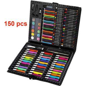 CRAYON DE COULEUR 150 pcs Dessin crayons de couleur, craies pastel à