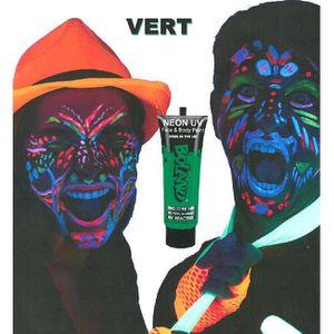 MAQUILLAGE Tube peinture vert fluo UV corps et visage 10 ml M
