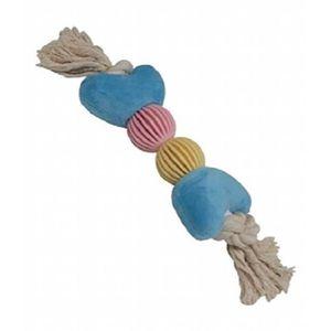 JOUET CROCI Coton Coeurs d'os avec des boules, 37 cm, mu