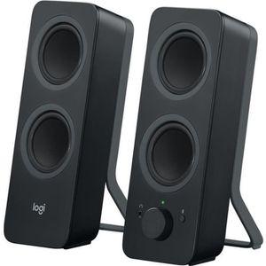 ENCEINTES ORDINATEUR Logitech Z207 Noir - Haut-parleurs Bluetooth pour