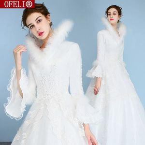 ROBE DE MARIÉE OFELI® Manches Longues Pas Cher Robes De Mariée D'