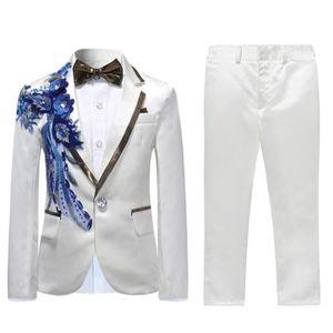 Bébé garçons MAGNIFIQUE espagnol en 2 Pièce Jam costume blanc//bleu nouveau