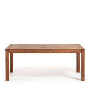 TABLE À MANGER SEULE Table à manger extensible en bois 200-280x100cm Br