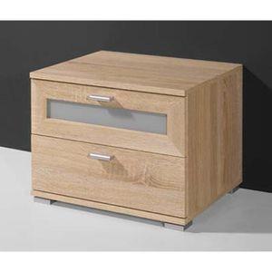 COMMODE DE CHAMBRE Commode avec 2 tiroirs en bois coloris chêne sonom