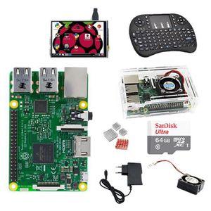 PC ASSEMBLÉ Raspberry Pi 3 Model B+SD 32Go+clavier sans fil+Bo