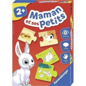 JEU D'APPRENTISSAGE RAVENSBURGER - 24023 - Puzzle duo Maman et Ses Pet