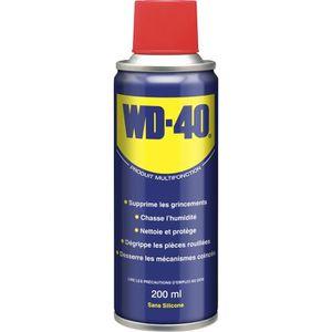 LUBRIFIANT MOTEUR WD40 Spray Multifonction 200 ml (Aérosol) - Dégrip