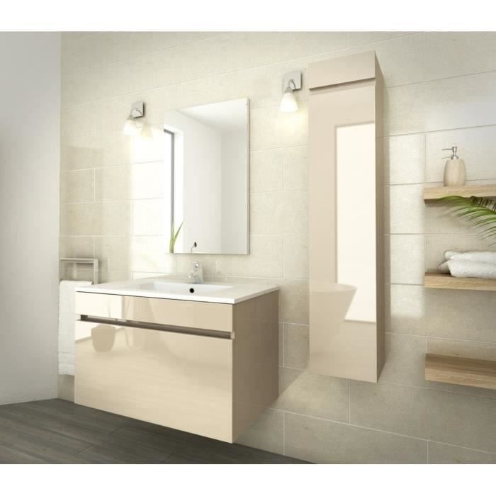 Luna Salle De Bain Compl Te Simple Vasque 80 Cm Beige