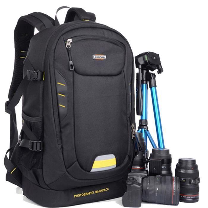 noir sac a dos photo canon eos 70d . sac a dos appareil photo pour nikon. sac de voyage. sac photo bandoulière reflex