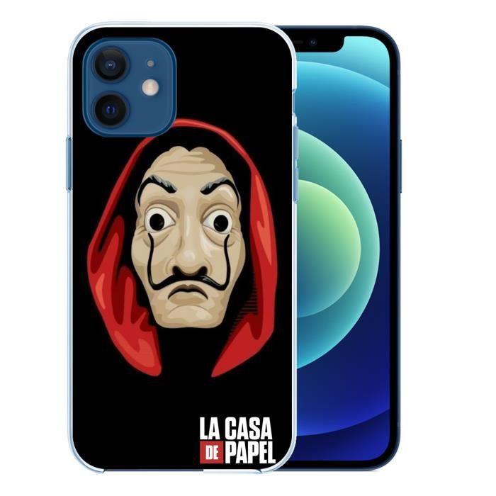 Coque pour iPhone 12 - La Casa De Papel Masque Dali. Accessoire telephone