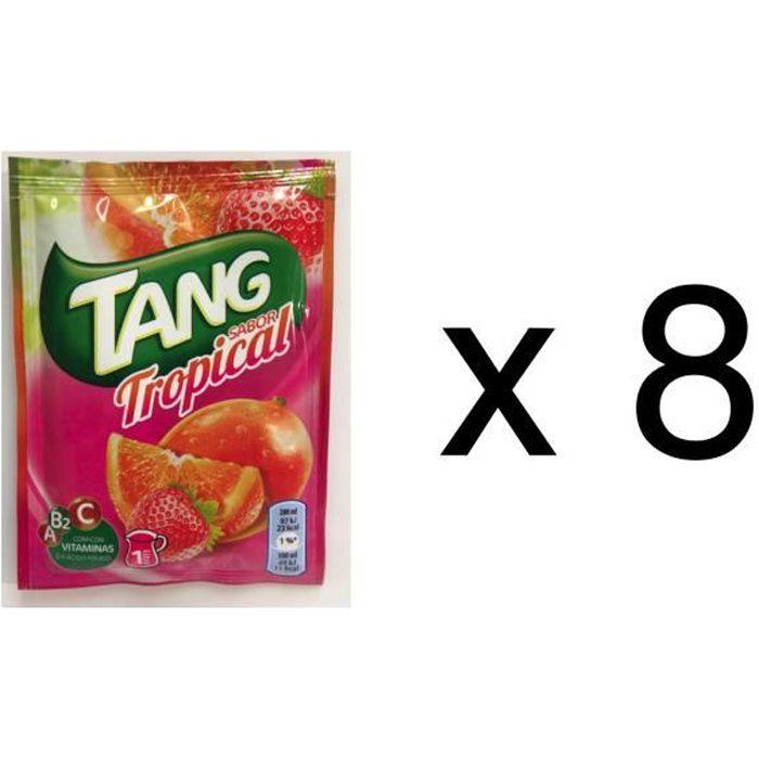 8 sachets de tang gout tropical, soit 8 litres de jus de fruit