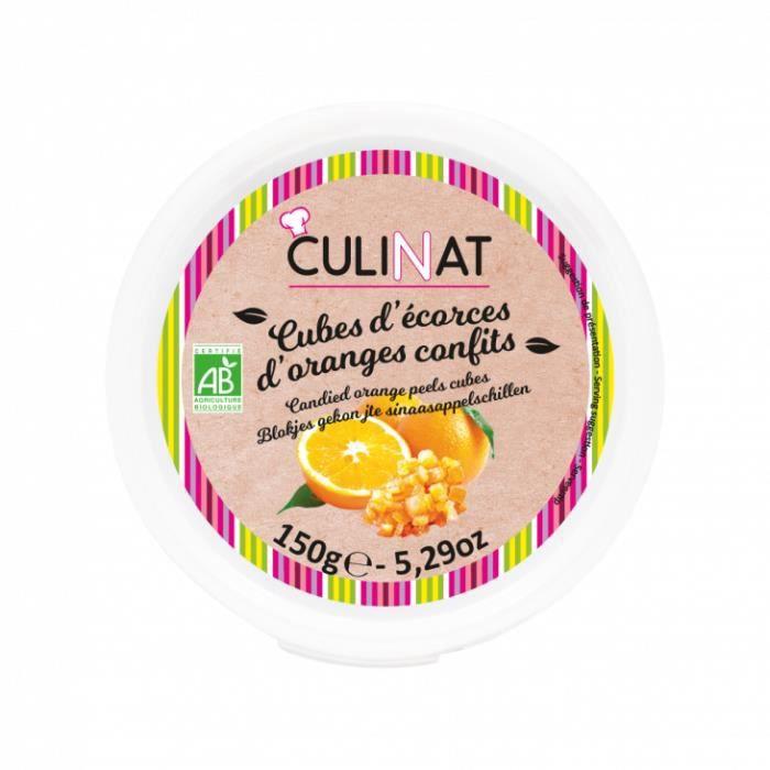 Cubes d'écorces d'oranges Bio confits Culinat 150g
