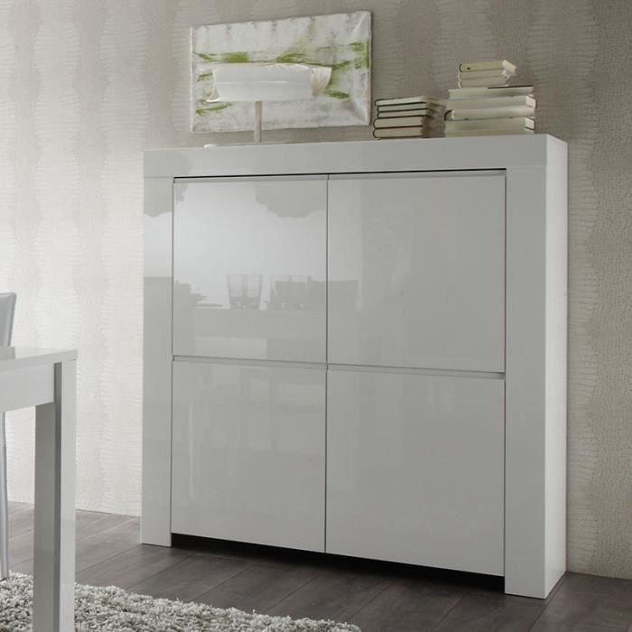 Buffet haut blanc laqué design TRIPOLI