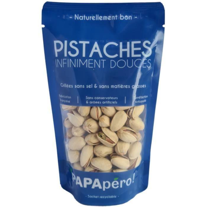 Pistaches infiniment douces - Grillées sans sel & sans matières grasses - 90gr - PAPApéro !