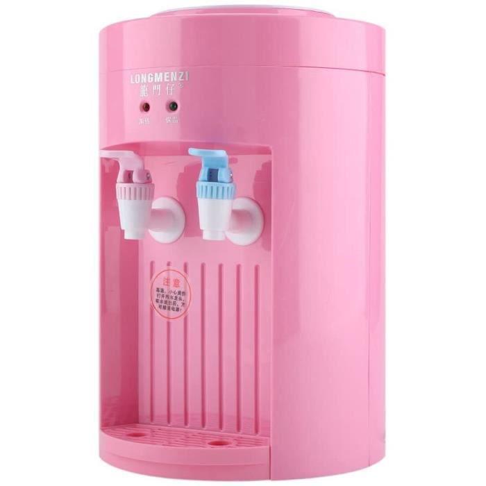 Distributeur d'eau Électrique Mini Distributeur de Boissons Drink Fontaine à Eau Gallon avec Le Robinet pour Bureau(Rose)