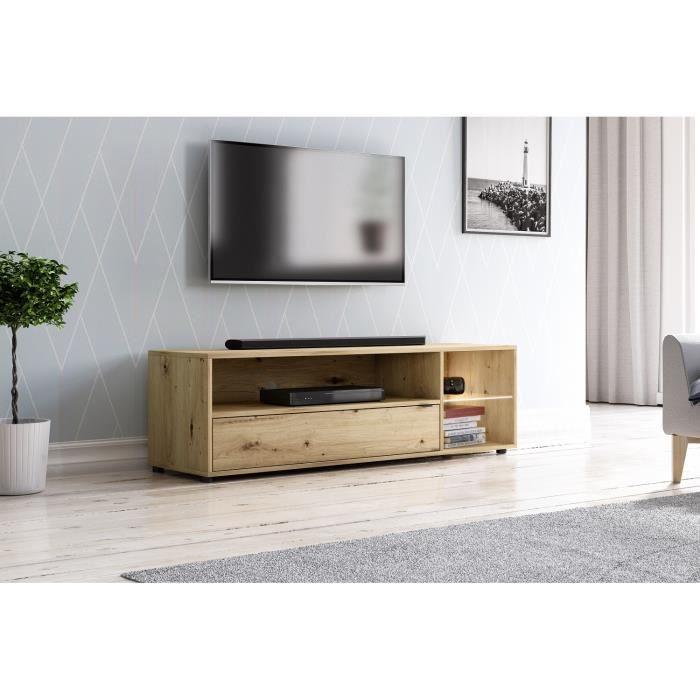 3xeLiving Meuble TV LED moderne Cogins, 140 cm
