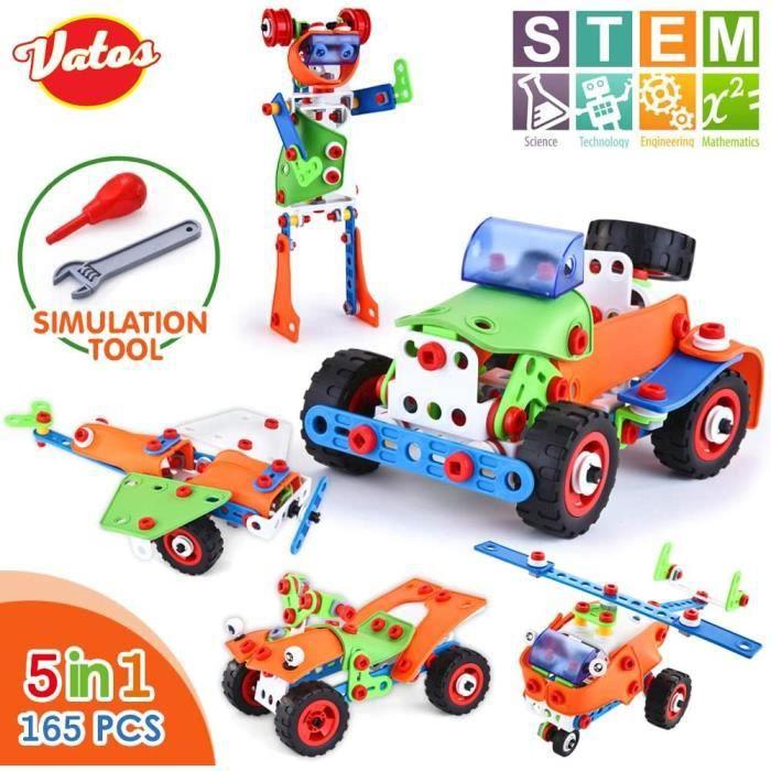 VATOS Jouets de Construction STEM Kit de Blocs de Construction Créatifs Ensembles de Jouets de Construction éducatifs en Plastique p