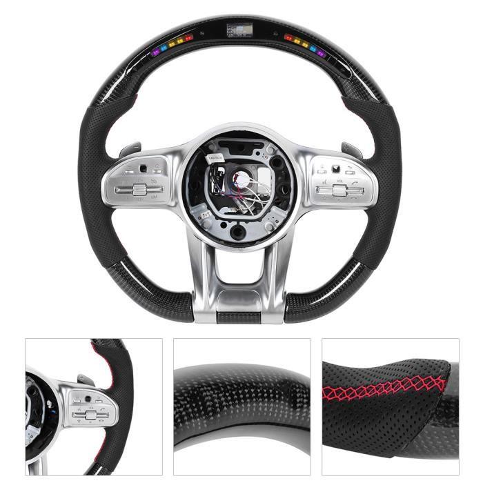 EBTOOLS Volant LED Pour AMG Performance en Fiber de carbone LED course à affichage numérique volant adapté pour mercedes-benz A /