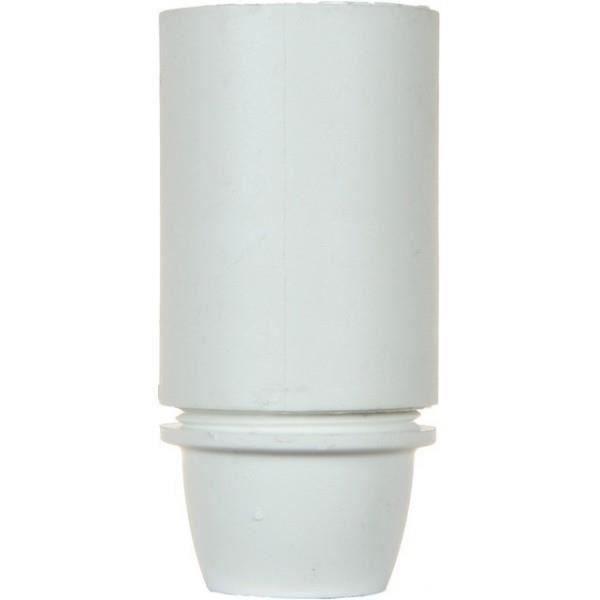 VOLTMAN Accessoire d'Éclairage Douille Lisse Plastique Blanc (Lot de 3)