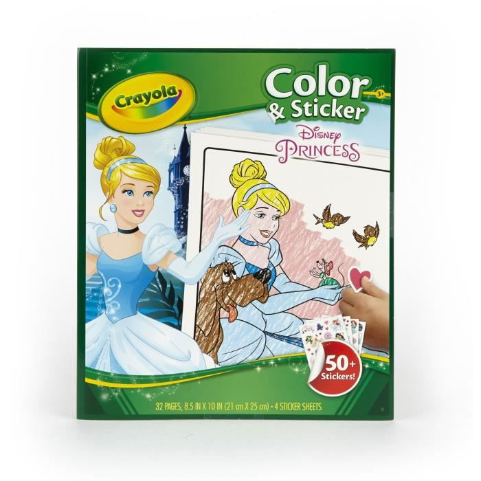Crayola - Album coloriage & autocollants Princesses - Disney