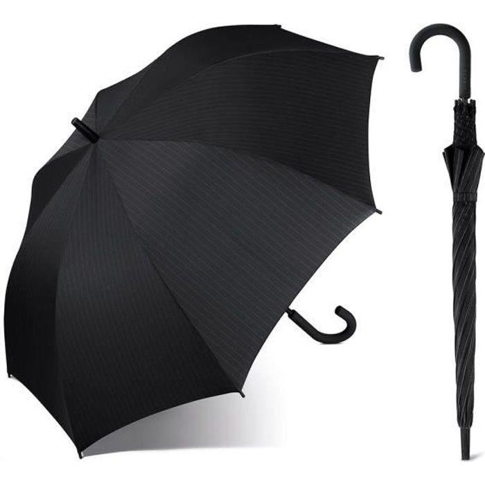 Esprit - Parapluie canne droit automatique homme Long AC (gentslongac) needlestripeblack 50156 taille 92 cm