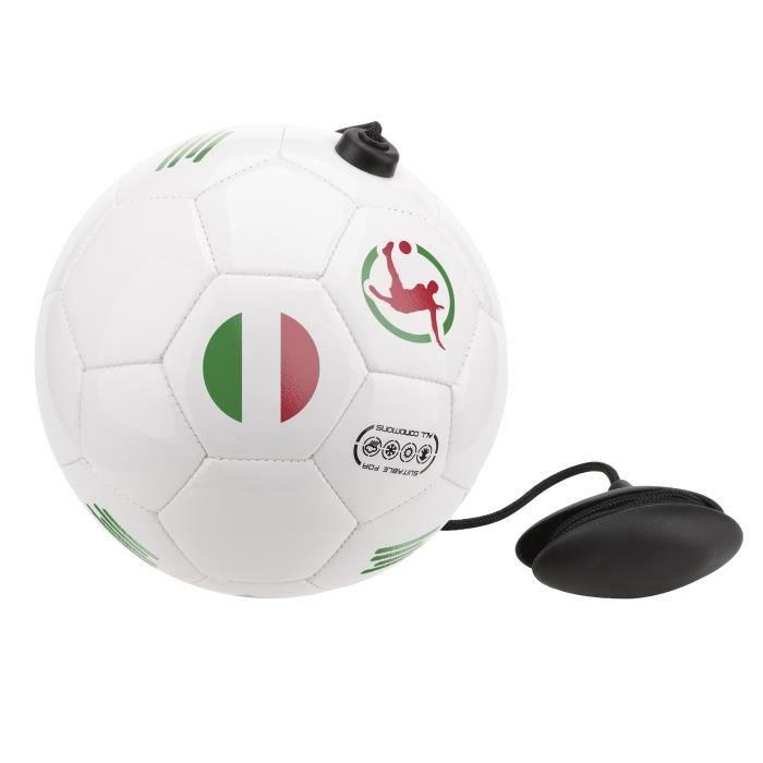 Ballon d'entraînement de football ITALIA avec corde réglable pour améliorer les performances techniques, passes, contrôle de balle,