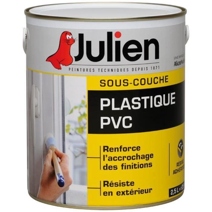JULIEN Peinture sous couche J2 plastique PVC - 2,5 L