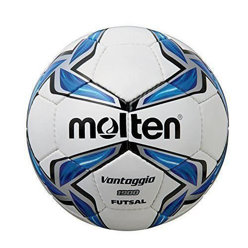 Molten Futsal en cuir synthétique-Blanc/Bleu/noir - F9V1900