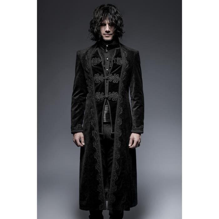 Manteau gothique homme 'corbeau '