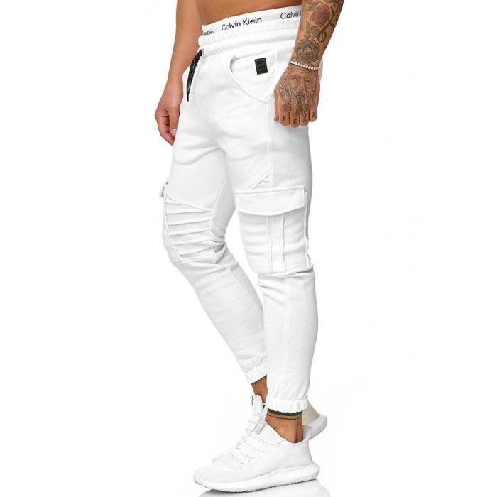 Jogging homme fashion Jogging R-1214 blanc