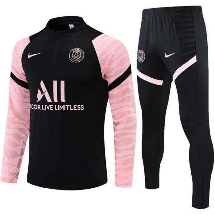 Maillot Foot NIKE PSG Paris Saint-Germain 2021 2022 Survêtements Foot Homme Enfants Nouveau - Noir