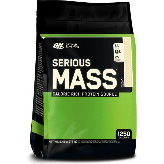 OPTIMUM NUTRITION Pot Serious Mass Vanille - 5,6 kg