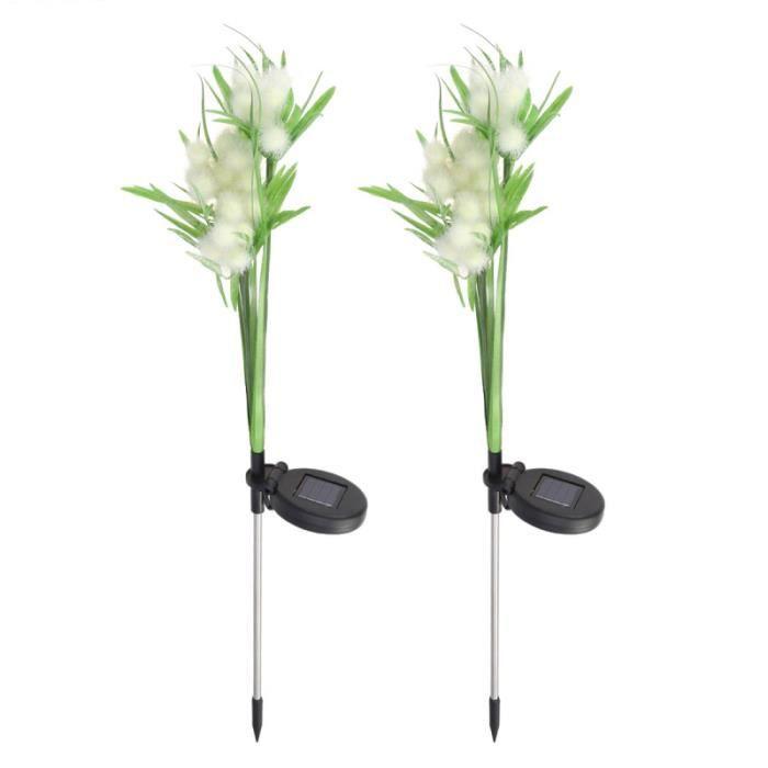 2 pièces lampe de pelouse forme de fleur étanche à la pluie antirouille décoratif jardin lumière pour cour SPOTS - LIGNE DE SPOTS