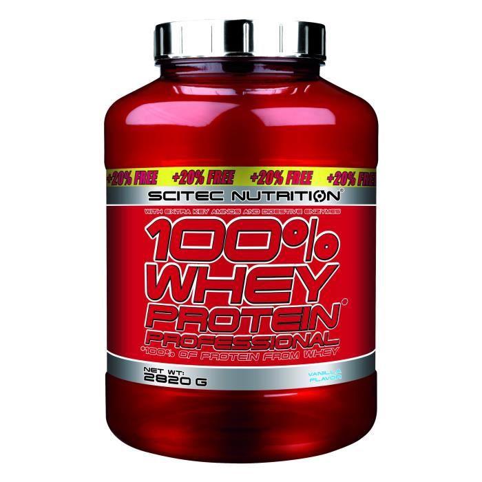 100% Whey Protein Professional 2820g VANILLE Edition 20% OFFERT - Musculation