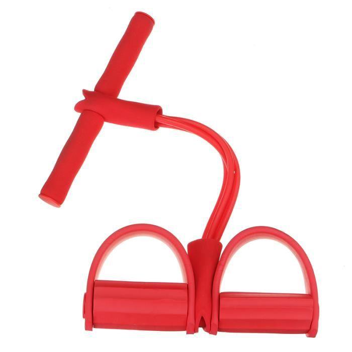 Élastique De résistance appareil de gym pieds jambe fitness exercice Rouge