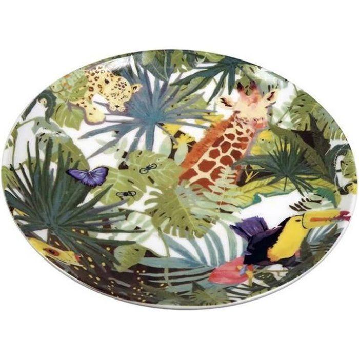 The Zoo plaque Tropical20 x 2 cm en céramique