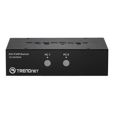 TRENDNET Boîtier de commutation KVM TK-222DVK - 2 Ordinateur(s) - 1 Utilisateur(s) local - 2560 x 1600 - 6 x USB - 3 x DVI