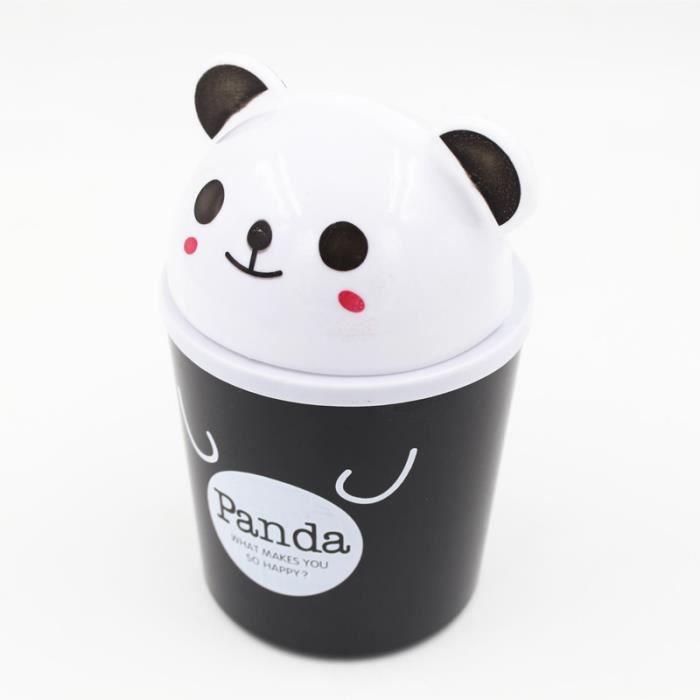"""TRIXES Jolie Bo""""te ? Bascule Mini Panda pour D?chets Ordures pour Bureau"""