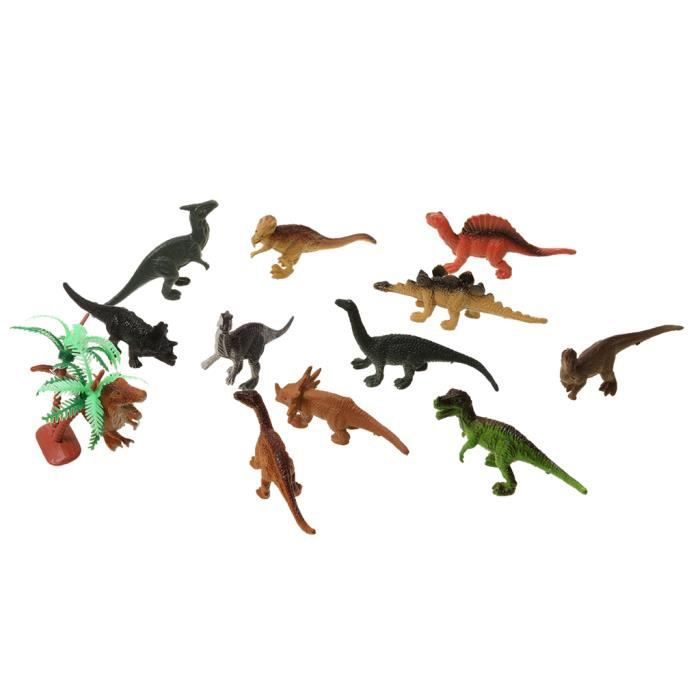ROBOT MINIATURE - PERSONNAGE MINIATURE - ANIMAL ANIME MINIATURE Dinosaur 12 x Mini Figure 1 x Plastic Barrel