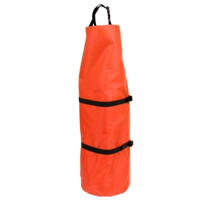 Sac de Tente Compression Anti-pluie pour Camping et Sports D'extérieur Rangement 31 x 70 cm Orange