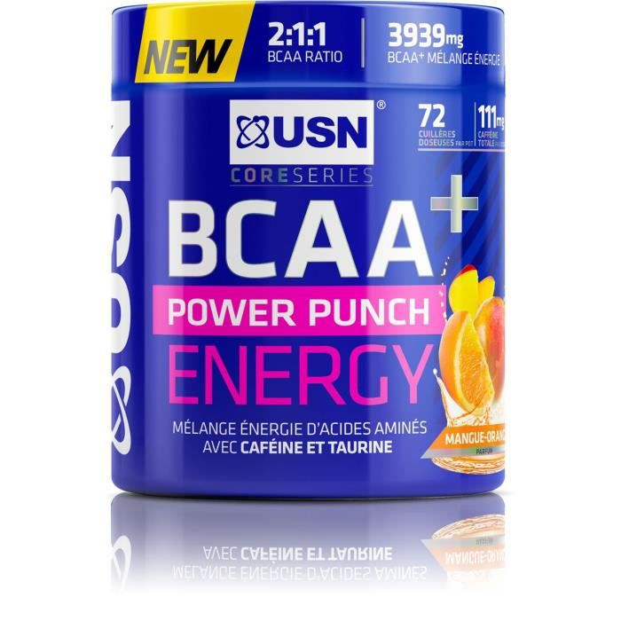 USN Boisson BCAA Power Punch Energy - Orange Mangue - 400 g